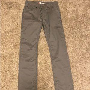 Levi's 511 Slim Gray Khaki Pants